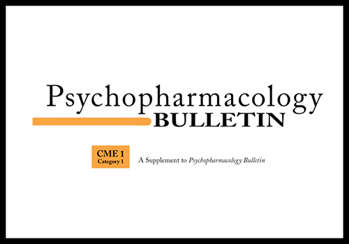 Psychopharmacology Bulletin Journal Supplements
