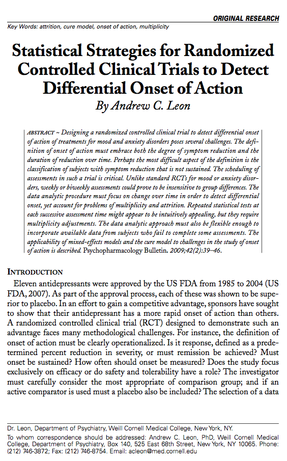 Statistical Strategies for Randomized Controlled Clinical Trials to Detect Differential Onset of Action