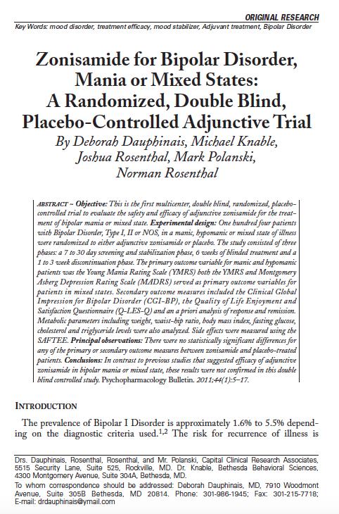 mla research paper on bipolar disorder