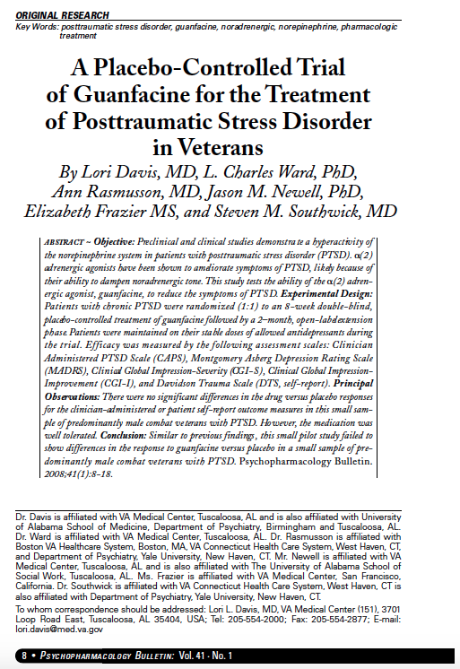 research paper on post traumatic stress disorder