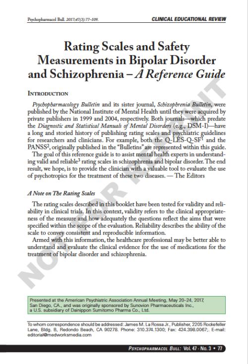 Bipolar Disorder & Schizophrenia
